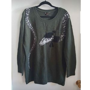 Green sweater AdditionElle